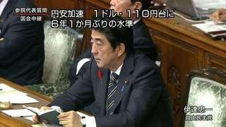 注意勧告!円相場 1ドル110円台!6年ぶり アベノミクスは失敗で終わるのか?