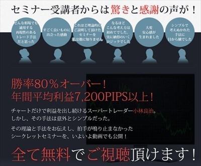 小林式FXチャート売買セミナー 夢丸インベストメント株式会社 批評